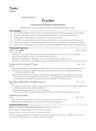 Sample Cv English Teacher Resume For Thumbnail Format Template