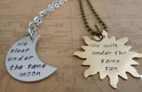 Jewels Necklace Sun Moon Love Quotes Wheretoget Inspiration Sun And Moon Quotes