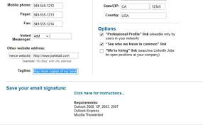 work email signatures how to create a linkedin e mail signature dummies