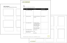 Free Video Script And Storyboard Templates Cain And