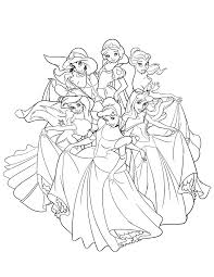 Small Picture Beautiful Disney Princesses Dancing Coloring Page H M Coloring