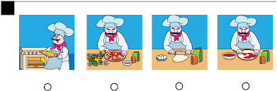 3 the chef has rolled pizza dough spread tomato sauce and placed toppings on the pizza which step is missing