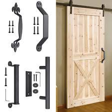 sliding barn door pull flush handle home room gate hardware set cast iron