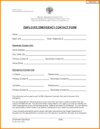 Emergency Contact Form Emergency Contact Form Template Word Lovely