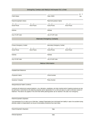 In Case Of Emergency Form For Employees In Case Of Emergency Form Barca Fontanacountryinn Com