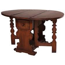 Antique Flemish Oak Drop Leaf Gate Leg Table For Sale At 1stdibs