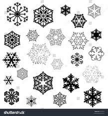 Different Designs Of Snowflakes Various Stylized Designs Snowflakes Winter Illustration