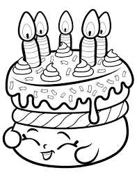 Cake Wishes Shopkin Season 1 Coloring Page - Free Coloring Pages ...