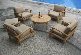High End Patio Furniture Set McNary Teak For High End Patio