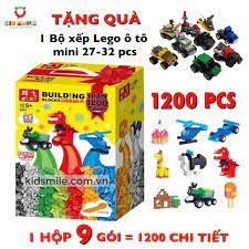 ĐỒ chơi trẻ em XẾP HÌNH LEGO cao cấp 1200 chi tiết, Giúp phát triển tư duy,  trí tưởng tượng, tăng khả năng ghi nhớ.