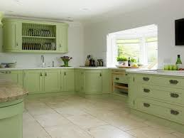 ... Green Painted Kitchen Cabinets On (800x600) ...