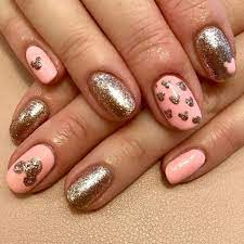 Pink And Gold Minnie Mouse Nails - Nail and Manicure Trends
