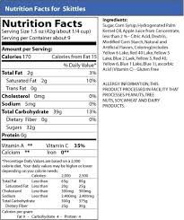 skittles nutrition information archives 0 snack pack with skittles nutrition label