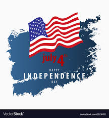 4th July Independence Day Card Template Royalty Free Vector