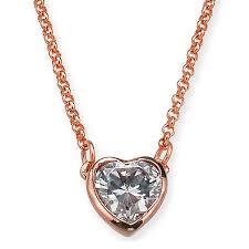 kate spade necklace kate spade wbruh087 romantic rocks mini pendant clear rose gold heart mini pendant necklace rose gold crystal heart pendant necklace