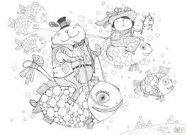 Full Page Christmas Coloring Pages Free Printable Mandala Smart And