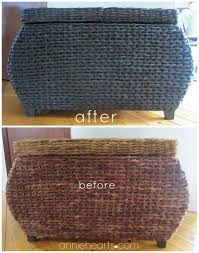 thrifted wicker chest gets a makeover anniehearts com painting wicker furniturefurniture
