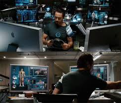 iron man office. 3d printing technology used in iron man by tony stark with apple macs office