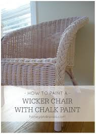 painting wicker furnitureHow to Paint a Wicker Chair with Chalk Paint  HONEY  ROSES