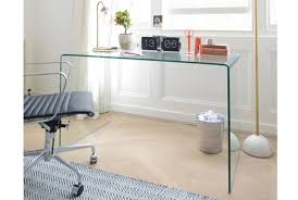 clear office desk. Puro Clear Glass Home Office Desk U