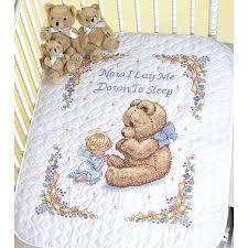 Baby Hugs Quilt St&ed Cross Stitch Kit - 43  x 34  Sweet Prayer ... & Baby Hugs Quilt Stamped Cross Stitch Kit - 43