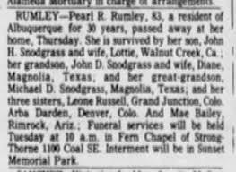 Pearl Hanson Rumley - Newspapers.com