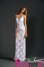 Beach Backless Wedding Dress Sexy Mermaid Lace White Open Backs