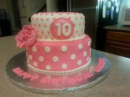 Cake Designs For 10th Birthday Pink And White 10th Birthday Cake Cakecentral Com