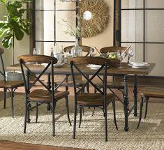 Metal And Wood Kitchen Table Homelegance 5099 72 Millwood Ash Veneer Dining Table