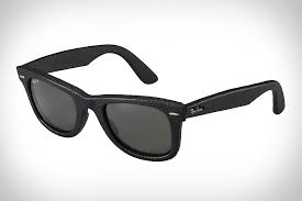 ray ban wayfarer leather sunglasses