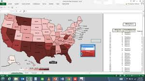 Interactive Map In Excel Youtube