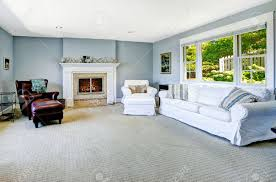 White Leather Chairs For Living Room Light Blue Living Room With White Sofa Armchair And Leather
