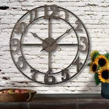 oversized rustic wall clock oversized