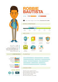 Resume Example Infographic Resume Template Cartoon Robbie Bautista .
