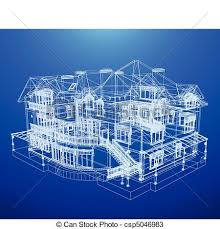 architecture blueprints 3d. Fine Architecture Architecture Blueprint Of A House  Csp5046983 On Blueprints 3d E