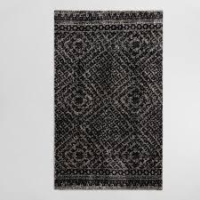black and white diamond rug. gray diamond print viscose and wool milano area rug black white n
