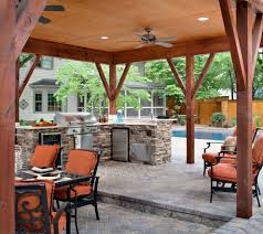 Rustic Outdoor Kitchens Outdoor Kitchen Patio In Patio Traditional With Iron Patio