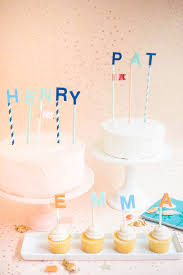 Name Cake Toppers Diy
