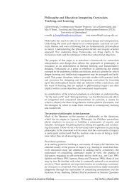 Importance Of Philosophy In Curriculum Design Pdf Philosophy And Education Integrating Curriculum