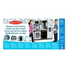 melissa and doug play kitchen and wooden chefs pretend play toy kitchen with ice cube dispenser