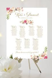 Etsy Wedding Seating Chart Wedding Seating Chart By Table Various Sizes Vintage