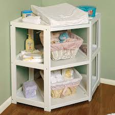 badger basket diaper corner changing table  white  free shipping