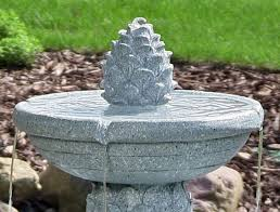 2 Tier Solar On Demand Fountain With LED LightsSolar Water Features With Lights
