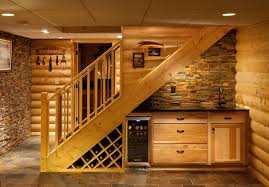 basement wet bar under stairs. Contemporary Basement Image Of Basement Stairs Design Shelf Intended Wet Bar Under