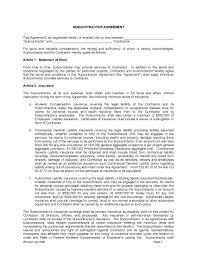 Contractor Confidentiality Agreements Download Subcontractor Agreement WikiDownload 14
