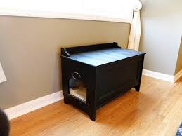 Handmade Wooden Bench/Litter Box