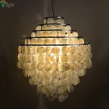 Image Modern Modern Lustre Shell Led Pendant Chandelier Lights Chrome Dining Room Led Chandeliers Lighting Bedroom Hanging Light Fixtures Blown Glass Chandelier Cheap Dhgate Modern Lustre Shell Led Pendant Chandelier Lights Chrome Dining Room