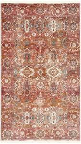 red orange rug blue