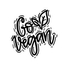Go <b>Vegan</b> Vector Handwritten Lettering <b>Calligraphy</b> Eco Label ...