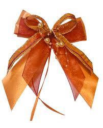 10 Weihnachtsschleifen Christbaumschmuck Schleifen Geschenke Weihnachten Ws1925 Orange Bordeaux Gold
